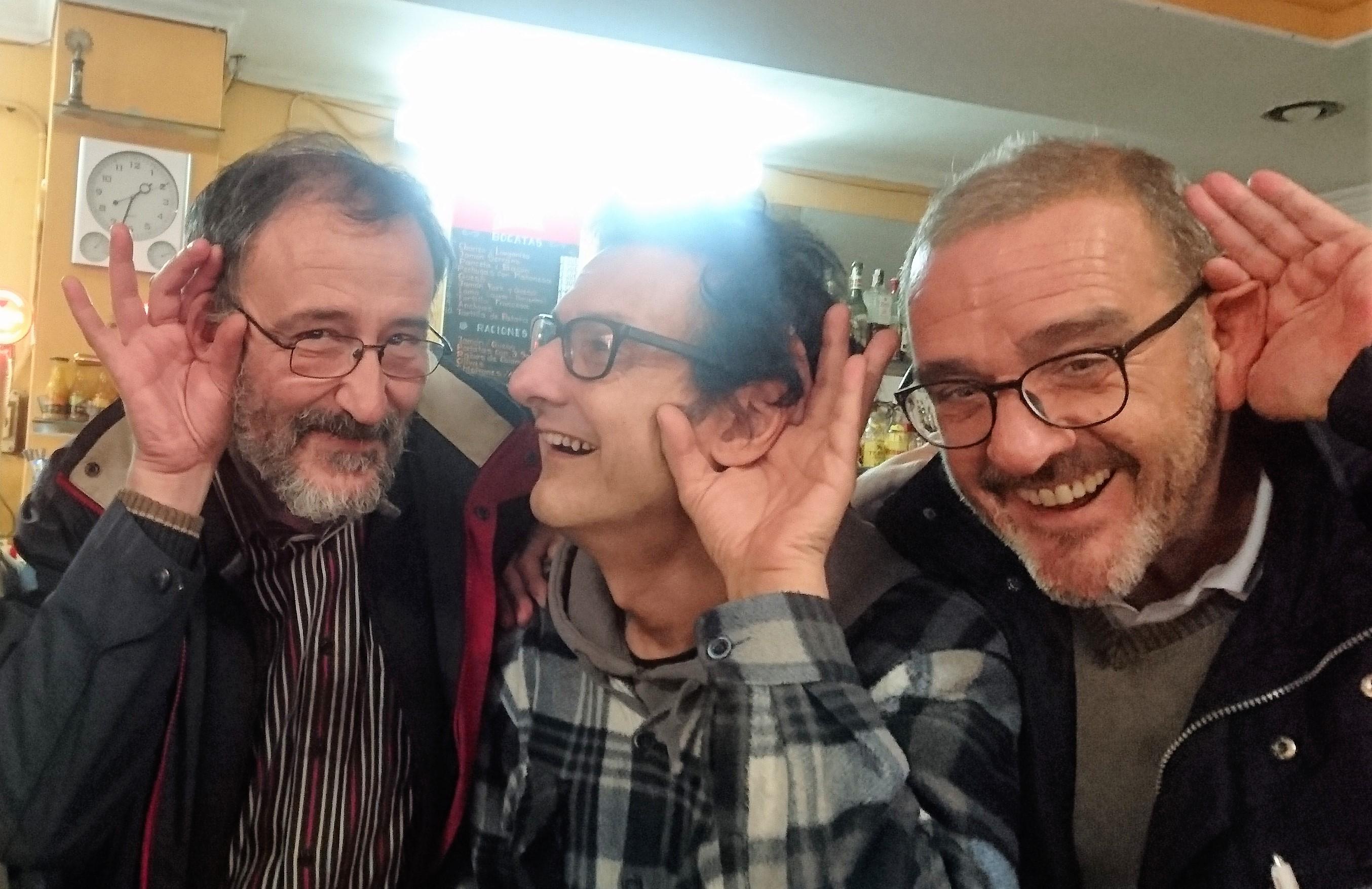 Chema Lopez Alcoitia, Santi Ric y Manuel Alcaine - Fundadores de