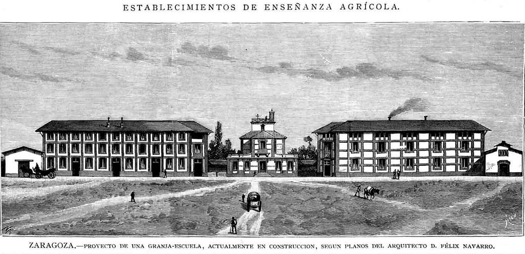 La Granja de San José 1883-En construcción