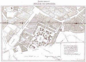 Zaragoza. Proyecto nuevo parque 1880