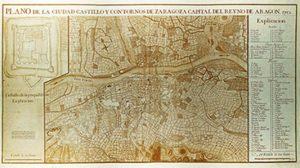 Plano de Zaragoza 1712 (a)