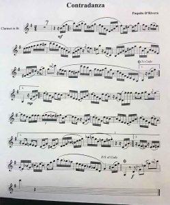 partitura contradanza