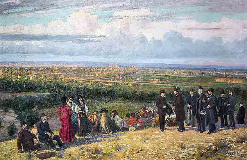 1908-Vista de Zaragoza - Juan José Gárate