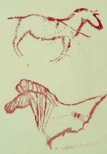 Calcos de caballo, cueva Fuente del Trucho