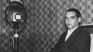 Federico G Lorca en la radio