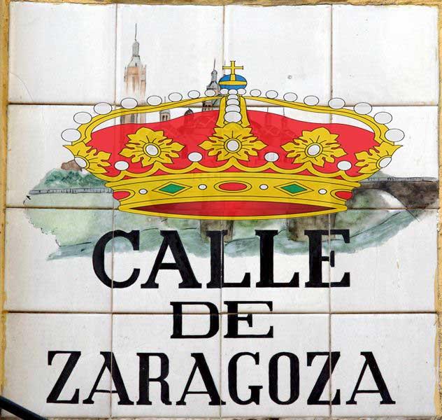 Callejero monárquico ZGZA