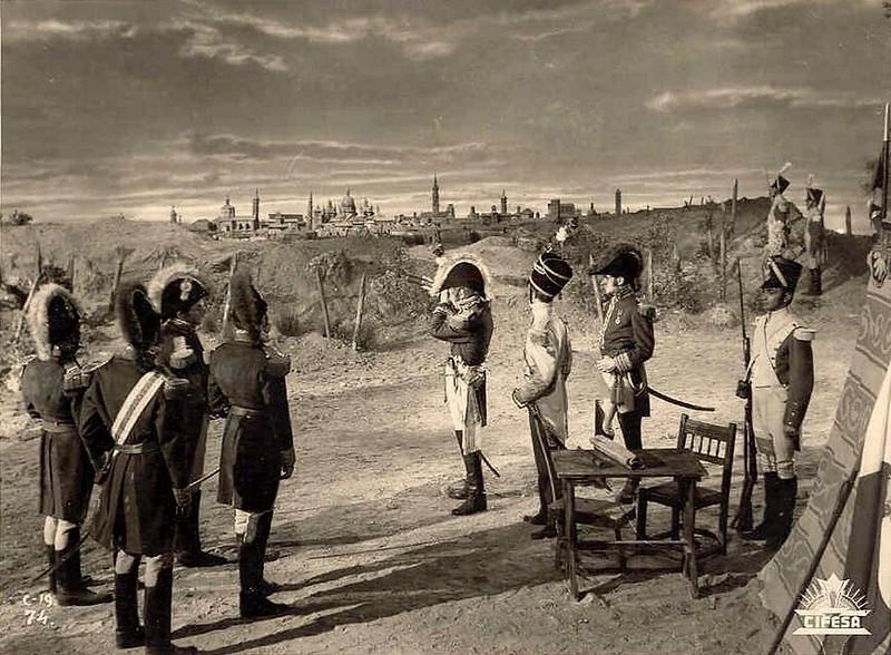 1808 - General Jean Antoine Verdier y su estado mayor, en Torrero, junto al Canal